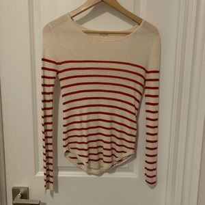 Garage long sleeve with red stripes